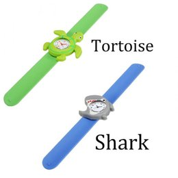 Wholesale Animal Slaps - Hot Models Ocean Animal Series Slap Watch Cute Animal Cartoon Slap Snap Watch Silicone Wrist Watch for Children Gift New Arrival 2017 2018