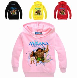 Wholesale Girls Hoodie Tshirt - Tshirt kids MOANA clothes tee shirt enfant garcon Long Sleeve T-shirts Sweatshirt Hoodies Boys Girls