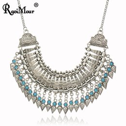 Wholesale gypsy pendant - Multi-Layers Necklaces & Pendants Boho Gypsy Ethnic Vintage Statement Choker Maxi Collares Collier for Women Turkish Jewelry