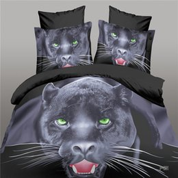 Wholesale Tiger 3d Printed Bedding Set - Panthers,panda,Tigers, leopards luxury 3D animal leopard rose tiger wolf lion bedding bed sheet set bedclothes duvet cover set bedding set