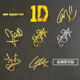 Wholesale One Direction Posters - One Direction 35mm Harry Styles Liam Payne Zayn Malik Niall Horan Louis Tomlinso Decal Sticker Poster Paster for Mobile Phone iPad Computer