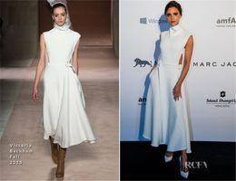 Wholesale Dresses Beckham - High Quality 2016 Victoria-Beckham Formal Dresses Evening Wear Long Satin Sleeveless Ankles-Length Zipper 2015 Evening Dresses Prom Gowns