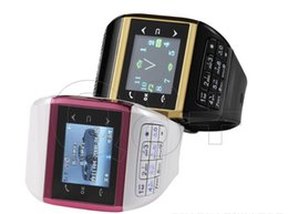 Wholesale Dual Sim Android Quad Band - Unlocked 1.5 inch Q8 Cellphone Mobile Dual Sim Dual Standby Quad Band Touch Screen Camera Watch Wrist Phone Free DHL