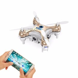 Wholesale Drone Led - 2016 new Control By Cell Phone RC Quadcopter CX10W Wifi FPV 0.3MP Camera LED 3D Flip 4CH Version Mini Drone Helicopter Gift