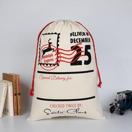Wholesale Santa Claus Backpack - Santa Claus Sack Christmas Candy Gift Bag Kids Christmas Gift Bags Christmas Candy Gift Bag Backpacks Printing Bags Drawstring Backpack