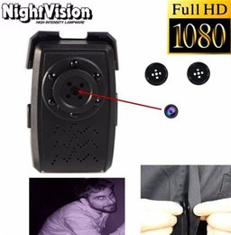 Wholesale Button Pinhole Camera - Free Shipping Full HD 1920*1080 T5 Night Vision Button Pinhole Camera Mini DV Spy Hidden Camcorder DVR Video Recorder