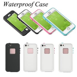 Wholesale Plastic Packaging Straps - Waterproof Case For Iphone 6 Case Waterproof Shockproof Dirt Shockproof And Handing Neck Strap For Galaxy S6 Edge With Retail Package SCA168