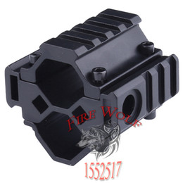 Wholesale Laser Barrels - Tri-rail Barrel Mount Flashlight Laser Scope Mount Base w  20mm Picatinny Weaver Rail Hunting Accessories