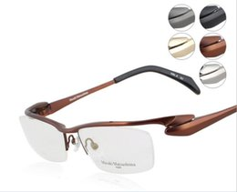 Wholesale Pure Titanium Glasses - Brand Glasses-pure titanium Masaki Matsushima eyeglasses men optical glasses frame eyewar frame spectacle frames Streamline glasses MF-1153