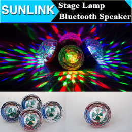 Wholesale Disco Ball Mobile Phone - Portable Wireless Bluetooth Mini Speaker LED Light Magic Ball Christmas Party Disco Stage Lamp Support TF Card FM Radio