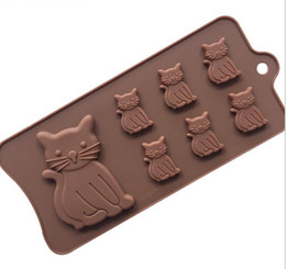 Wholesale Craft Ware - New Cat Kitten 7 Cavity Silicone Mold for Fondant, Gum Paste, Chocolate, Crafts Unique Kitchen ware Bake wear MT-002