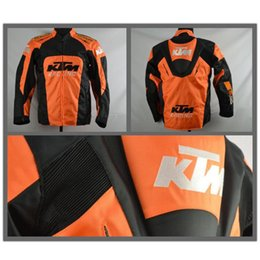 Wholesale Motorbike Protective Gear - High quality KTM motorcycle Racing jacket oxford clothes motorbike jacket with protective gear size M to XXXL