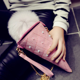 Wholesale Cheap Red Handbags - Wholesale-2016 New PU Leather Mini Icecream Chain Bag Packet Women Messenger Bags Cute Women Shoulder Bag Women Handbag Cheap