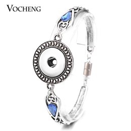 Wholesale 18mm Chain - VOCHENG NOOSA Snap Charms Bracelet 5 Styles Magnet Clasp 18mm Vintage Interchangeable Jewelry NN-467