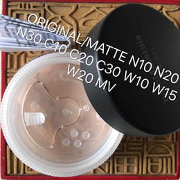 Wholesale Mineral Foundation Matte - Super High Quality Minerals Original Matte foundation Mixed Colors 8g Bare SPF15 Makeup Powder FREE SHIPPING MEDIUM BEIGE FAIRLY LIGHT