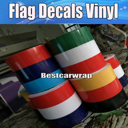 Wholesale Italy Car - Germany France Italy Flag Hood Stripes Car Stickers Decal for Bonnet, Roof, Trunk for Volkswagen Mini DIY Car decals 15cmx30m Roll