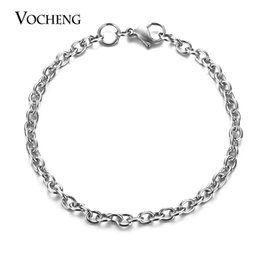 Wholesale Stainless Steel Bracelet Wholesale - VOCHENG Stainless Steel Bracelet Thickness 1.0mm*4.0mm*5.0mm O-Shaped Chain 4 Sizes Handmade Jewelry VC-261