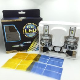Wholesale H4 Hid Bulbs Hi Low - Car light bulbs Hi Low Beam H4 3000lm 6500K 6thG HB2 9003 Led Headlight Lamp Kits all in one design For universal Automoible replacement HID