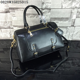 Wholesale good waxing - Latest women Shoulder Bags Waxed leather Large volume casual shoulder bags good quality leather advanced antirust hardware cost prices sale