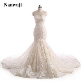 Wholesale Cathedral Train Taffeta Wedding Dress - 2017 Nanwuji Sweetheart 3D Lace Flower Champagne Wedding dress Illusion Backless Corset Cheap Cathedral Train