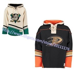 Wholesale Mens Sweatshirt Hoodies - Mens Autumn&Winter Anaheim Ducks Customized Hoodie Stitched Name&No. Authentic Old Time Hockey Hoodies Personalzied Sweatshirts S-3XL