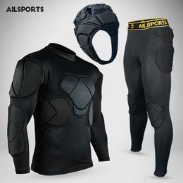 Wholesale Helmet Xxl Black - Rugby goalkeeper jersey 2017 shirt goalkeeper helmet pants short elbow knee pad set