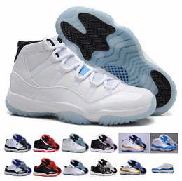 Wholesale Big Size Shoes Cheap - 2017 Cheap Air Retro 11 XI Basketball Shoes Mens Bred Black White Concord Low and High Space Jam Sneaker Online Big Size 14-16