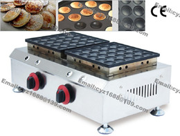 Wholesale Use Grill - Free Shipping Commercial Use Non Stick LPG Gas 50pcs Poffertjes Grill Mini Dutch Pancakes Maker Machine Baker