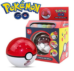Wholesale Kids Shooting Toy - Pokeball Rocket Shot Poke Ball Pikachu Figures Anime Action Figures Pocket Moster Kids Toys With Box