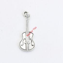 2019 fare chitarre 30pcs argento antico placcato musica chitarra amuleti ciondolo bracciali collana creazione di gioielli accessori fai da te 27x10mm