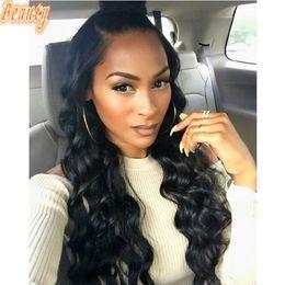 Wholesale Beauty Braids - Customized Pretty Full Density Body Wave Hair Beauty Bangs Brazilian Human Braiding Hair Wavy Affordable Full Lace Wigs
