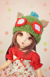 Wholesale Teemo Free Shipping - Wholesale-Hot New Autumn Winter Game Animation Knitting Hat Cosplay Teemo Baby Toy Hat Photography Cap Free Shipping