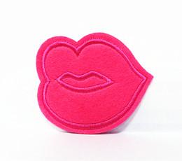 Wholesale Ventas al por mayor piezas rosa sexo boca cm x cm Punk Patch bordado apliques de hierro en el parche ALS