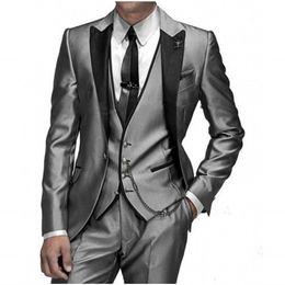 Wholesale Ceremony Suits Men - Wholesale-Gentleman Wedding Ceremony Male Suits Men Wedding Suits Peaked Lapel One Button Groomsman Tuxedos