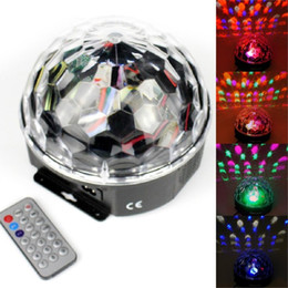Wholesale disk ball - LED RGB Crystal Magic Ball Effect Light,MP3 Music Stage Laser Lighting Lamp with USB Disk and Remote Control Function