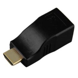 1 пара черный HDMI расширитель конвертер одним Cat5e Cat6 кабель Full HD 1080P дешевые кабель высокоскоростной интернет cheap internet black от Поставщики интернет черный