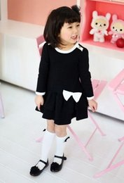 Wholesale Low Priced Long Dresses - Hot sale lowest price Retail and wholesale New 100% cotton girl long-sleeved cake dress Kid girl dress,100% cotton girl coat dress,1pcs