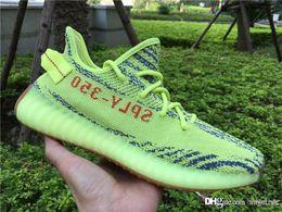 Wholesale Outdoor Fluorescent - 2017 Originals Fluorescent green B37572 Boost 350 V2 Semi Frozen Yellow Yebra Blue Tint Beluga 2.0 Outdoor Running Shoes Sports boosts