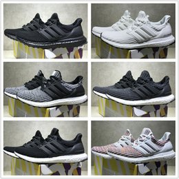 Wholesale M Runner - Adidas Originals Ultra Boost 4.0 Core Primeknit Runner Fashion Ultraboost Running Sneaker Sports Shoes For Men Women Eur36-45