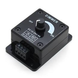 2019 geführtes dimmersignal Schwarze LED Dimmer DC 12V 24V 8A Einstellbare Helligkeit Lampe Streifen Treiber Einfarbig Licht Netzteil Controller