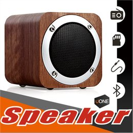 Wholesale Wooden Pc Speakers - B06 MINI Wireless Bluetooth Speaker Wooden, Portable Bluetooth 4.0 Speakers with 10h Play Time, PC Computer Speaker with Enhanced Bass Reson