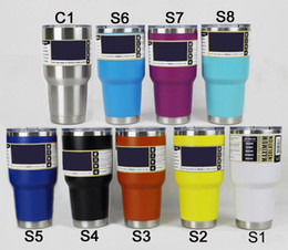 Wholesale Car Beer - Simple Color Double 304 Stainless Steel Insulation Cup 30OZ 20OZ Portable Car Cup Beer Glass With A Cover On