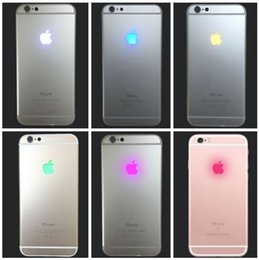 Wholesale Led Apple Logo Iphone - Night Glowing Lighting LED Back Logo Replacement Flex Cable for iPhone 7 Plus 6 6S Plus