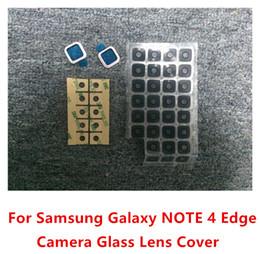 bordure des lentilles de verre Promotion Nouveau Caméra Arrière En Verre Lens Cover Cadre Titulaire Pour Samsung Galaxy Note 4 Edge N915 100 pcs / lot livraison gratuite