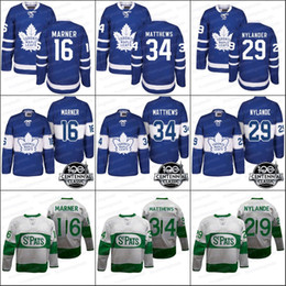 Wholesale Brown Black White - Toronto Maple Leafs Jerseys 34 Auston Matthews 16 Mitch Marner 29 Nylander 100th 2017 Centennial Classic Hockey Jerseys White Blue
