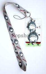 Wholesale Pc Students - Cartoon Anime 50 pcs High Quality Anime My Neighbor Totoro Lanyard ID badge holder key neck strap for Kids Student