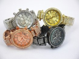 Wholesale Modern Battery - Modern Fashion michael men's watch with diamond,women watch,quartz watch with calendar, silver, gold, rosegold in stock