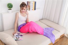 Wholesale Girls Beds - 2016 Mermaid Tail Wrap Soft Fleece Blanket Bed snuggle-in Sleeping Bag Cocoon Costume