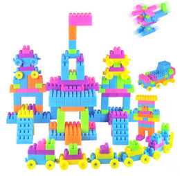 Wholesale Large Toy Bricks - 2018 hot sale creative environmental protection plastic children interactive Puzzle build Blocks toy large granular non-toxic toy bricks