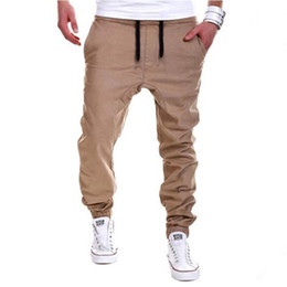 Wholesale Gray Trousers Men - Wholesale-pants cargo Mens Joggers Male Trousers Men Pants Mallas Hombre Elastic Cross Pants Sweatpants Jogger Pantalones